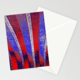 In the Zone red white blue stripes Stationery Cards