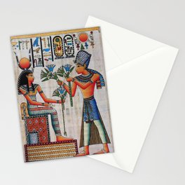 Isis On Papyrus Stationery Cards