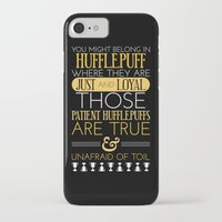 hufflepuff iPhone & iPod Cases featuring Hufflepuff by Dorothy Leigh