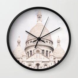 The Sacre-Coeur Basilica in Paris Wall Clock