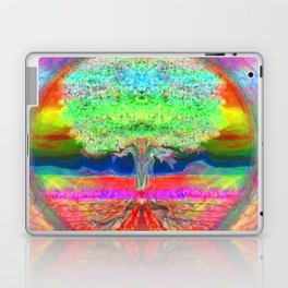 Neon Glow Tree of Life Laptop & iPad Skin
