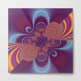 fractal and violet Metal Print
