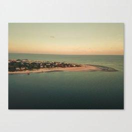 Where River Meets Sea Canvas Print
