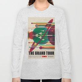 NASA Retro Space Travel Poster The Grand Tour Long Sleeve T-shirt