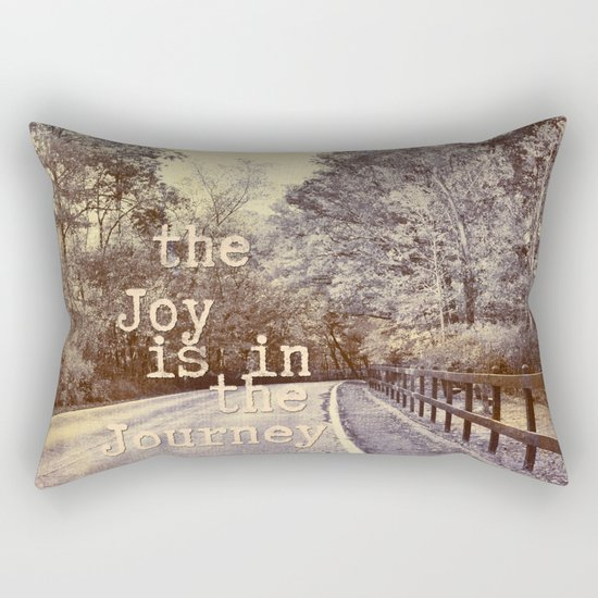 Road Trip - the joy is in the journey - Rectangular Pillow