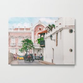Street Scene, Cartagena Fine Art Print  • Travel Photography • Wall Art Metal Print