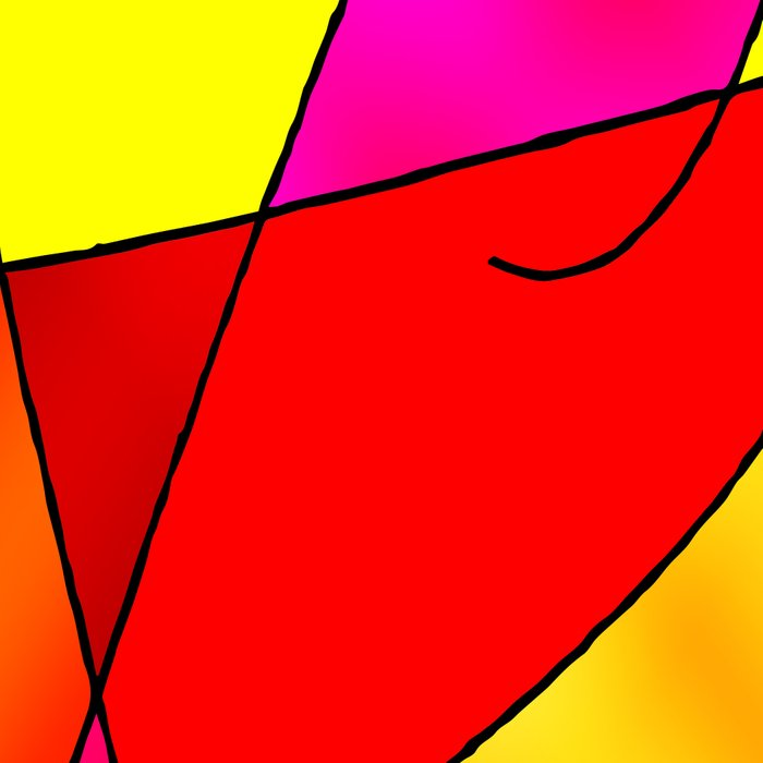 ABSTRACT CURVES #2 (Reds, Oranges, Yellow & Fuchsias) Leggings