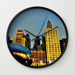 Chicago Bean Wall Clock
