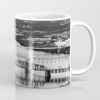 pittsburgh Mugs featuring Pittsburgh bridges by Jaclyn Scott