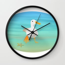 The Paddling Duck at the Se Wall Clock