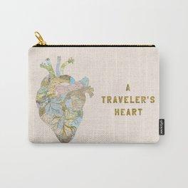 A Traveler's Heart Carry-All Pouch