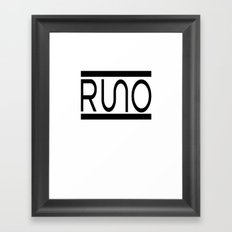 Rue Nothing RUNO Logo Bordered Framed Art Print