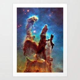 Hubble Telescope: Pillars of Creation Art Print