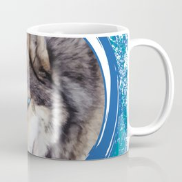 Blue-Eyed Wolf Coffee Mug