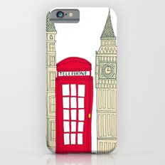 London red telephone box (cut out - red) iPhone 6 Slim Case