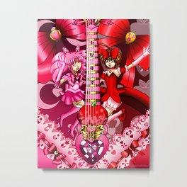Sailor Mew Guitar #14 - Sailor Chibi Moon & Mew Ringo Metal Print