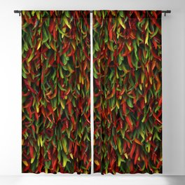 Hot chili peppers Blackout Curtain