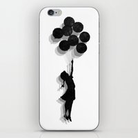 banksy iPhone & iPod Skins featuring Banksy Fly Away  by Love2Snap