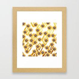Golden Sunflowers Framed Art Print