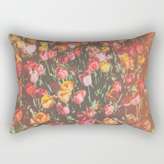 Tulip Field Rectangular Pillow