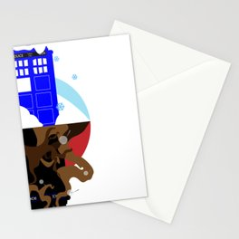 Upside Down Time Travel Stationery Cards