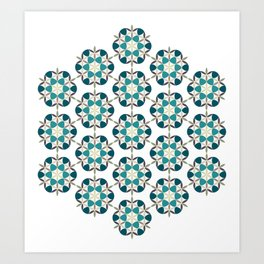 Flower of life tile Art Print