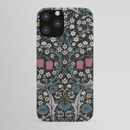 William Morris Blackthorn Art Nouveau Floral Pattern iPhone Case