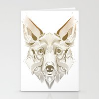 coyote Stationery Cards featuring Coyote by Kirsten Allen