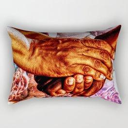 We Are All Humans  Rectangular Pillow