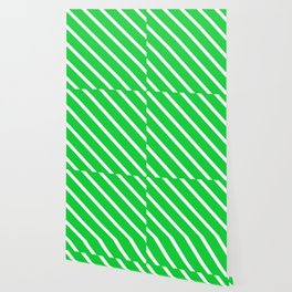 Green Slime Diagonal Stripes Wallpaper