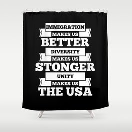 Immigration USA Shower Curtain