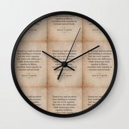 Alexis de Tocqueville Quote Wall Clock