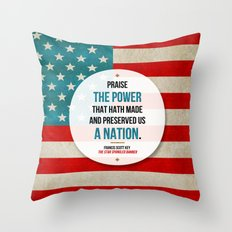 Preserved us a Nation Throw Pillow