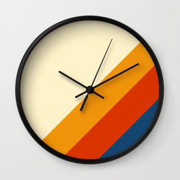 Retro Lines Diagonal Wall Clock