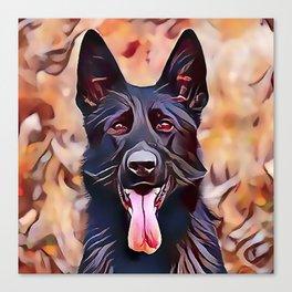 The Black German Shepherd Canvas Print