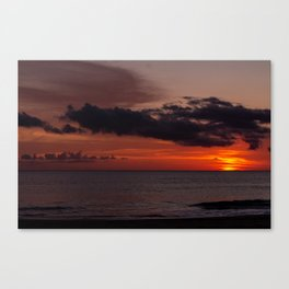Beautiful sunset at the sea Canvas Print