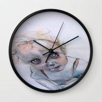 child Wall Clocks featuring Child by Haram Ahn