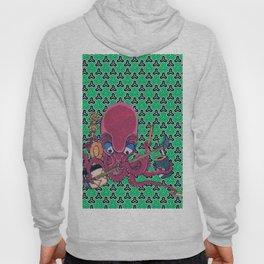 Kuniyoshi Musical Octopus with Bishamon Kikko Background Hoody