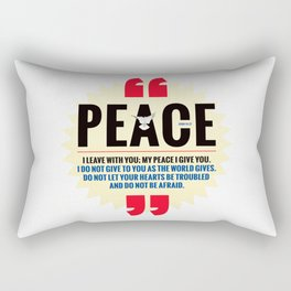 PEACE! Rectangular Pillow
