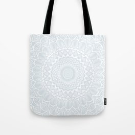 Minimal Minimalistic Light Cool Gray Mandala Tote Bag