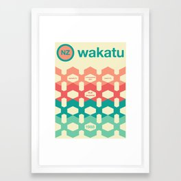 wakatu single hop Framed Art Print