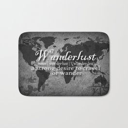 Wanderlust Black and White Bath Mat