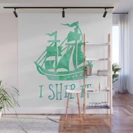 I Ship It - Watercolour Wall Mural
