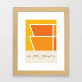 Shuffleboard (Sports Surfaces Series, No. 18) Framed Art Print