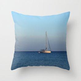sailing in palamutbükü Throw Pillow