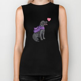 Watercolour Labrador Retriever Biker Tank