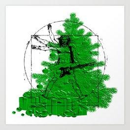 da vinci's Tree Art Print