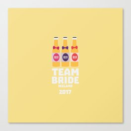 Team Bride Ireland 2017 T-Shirt Dht09 Canvas Print