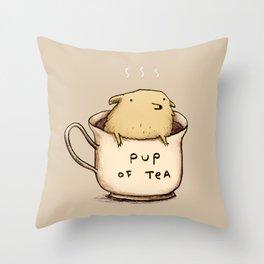 Pup of Tea Throw Pillow