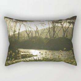 Te Rau Puriri Regional Park sunset South Head Kaipara Harbour Rectangular Pillow